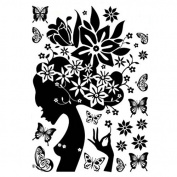 Samber Women Flower Wall Stickers for Home Decoration