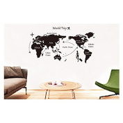 Samber World Map Wall Stickers for Home Decoration