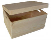 Large Plain Unpainted Wooden Tool Box DIY Storage Chest With Handles Toy Box 40 x 30 x 23 cm
