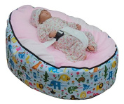 Pre-Filled Children Baby Bean Bag with Adjustable Safety Harness & 2 Removable Covers