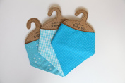 Pack of 3 Baby Boy Bibs by Sass & Belle
