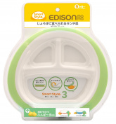 Stage 3, Edison Mama Smart Style Plate Supports Easy Feeding with Rubber Backing Prevents Slip (9 Month +)