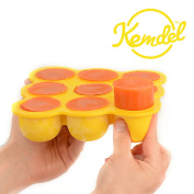 Multi-Purpose Baby Food Storage with No Spill Clip-On Silicon Lid - 9 x 80ml Portions - Best quality Food Grade Silicon - BPA Free & FDA Approved - Best Choice to Keep Your Baby Healthy & Growing!