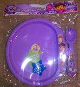 Dora the Explorer Combware ZAK 4 pack Plate Fork Set
