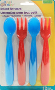 Blue & Red Angel of Mine Baby Forks & Spoons
