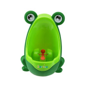 Soraco®Cute Frog Boys Potty Toilet Trainning for Boys Pee Trainer Bathroom Children Uninal with Whirling Target