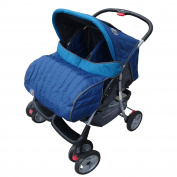 Deluxe Tandem - Twin Pram turquoise- BambinoWorld
