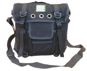 Mens Travel Shoulder Bag Satchel Combat Messenger Army Military Surplus Black
