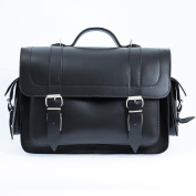 Black 36cm Leather Satchel Bag | Backpack | Briefcase | Vegetable Tanned
