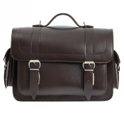 Dark Brown 36cm Leather Satchel Bag | Backpack | Briefcase | Vegetable Tanned