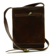 Genuine Leather Man Bag For Ipad And Tablet Colour Brown - Leather Goods Made In Italy - Man Bag