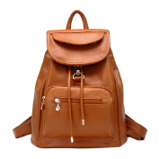 YIJI Women's Top-Handle Leather Backpack with Adjustable Straps