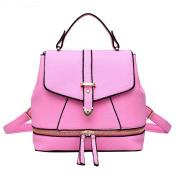 Baymate Women's Elegant Zipper Design PU Leather Travel Backpack