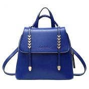 Baymate Women's Vintage Lightweight Adjustable Strap PU Leather Travel Backpack