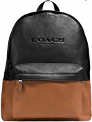 Coach Campus Backpack Leather Saddle/Black