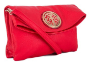 Womens Red Double Clutch Bag