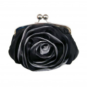 Dilize Women's Special Occasion Wedding Flower Silk Clutch Hand Bag