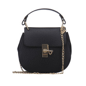 Zyurong Ladies Women's Girls' Small PU Leather Cross Body Bag Shoulder Bag Handbag with Chain