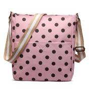 Miss Lulu Adorable Cross Body Bag Matte Oilcloth Printed Square Women Slouchy Shoulder Bag Multi Colour School Bags