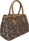 DKNY Small Signature Shoulder Bag in Chino/Dune with Removable Cross Body Strap