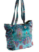 Large Tote Bag with pleats Lined Fair Trade polyester popper Fastening