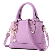UNIMM Women Solid Colour Shell Handbag Top Handle Bag Shoulder Bags With Key China Accessory Purple