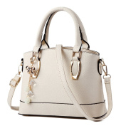 UNIMM Women Solid Colour Shell Handbag Top Handle Bag Shoulder Bags With Key China Accessory White
