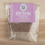 Bath Tea Bags (Rose Geranium & Green Tea) by Wild-Olive Ltd