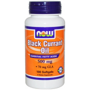 Now Foods Black Currant Oil 500mg Fruit Seeds High GLA Content - 100 softgels