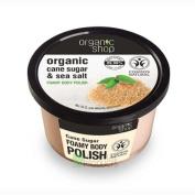 Organic Shop Foamy Body Polish Natural Sweet Almond and Cane Sugar 250ml
