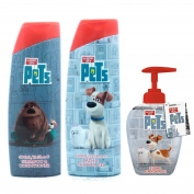 Secret Life of Pets 3 Piece Bath Set - Shampoo/ Conditioner 400ml, Bath & Shower Gel 400ml, Handwash 250ml