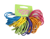 60 Bright Coloured Elastics Thick Hair Bobbles Elastic Bands Hair Accessory