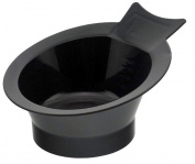 Colour Mixing Tint Dye Bowl - Designer Style (***High Quality & Durable*** Black Gloss Finish) for Salon Trolley, Cart, Hairdresser, Spa, Barber