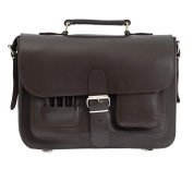Dark Brown 33cm Leather Satchel Bag | Backpack | Briefcase | Vegetable Tanned