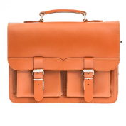 Cognac 33cm Leather Satchel Bag | Backpack | Briefcase | Vegetable Tanned