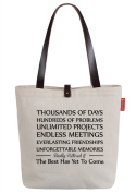 So'each Women's Best Has Yet To Come Letters Top Handle Canvas Tote Shoulder Bag