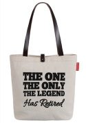 So'each Women's The One The Only Letters Top Handle Canvas Tote Shoulder Bag