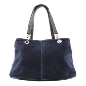 CTM Woman Handbag in Genuine Suede Leather Made in Italy - 32x20x14 cm