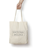 Emotional Baggage Tote Bag 150ml Premium Quality Natural Cotton Shopper Eco