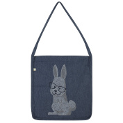 Twisted Envy Hipster Bunny Rhinestone Tote Bag