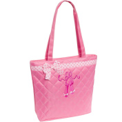 Silver Lilly Quilted Dance Ballet Slippers Tote Bag