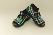 Slippers,Toddlers, Boys,Velcro, Snap, Laced shoes, Multicoloured, Lovely colours,Countured Footbed,Delicately stiffened, Natural material, Canvas ,Anti-skidding, UK size 2UK - 19EU, 3UK - 20EU, 4UK - 21EU, 5UK - 22EU, 6UK - 23EU, 7UK - 24EU, Lazy Toes ..