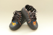 Slippers,Toddlers, Boys,Velcro, Snap, Laced shoes, Multicoloured, Lovely colours,Countured Footbed,Delicately stiffened, Natural material, Canvas ,Anti-skidding, UK size 2UK - 19EU, 3UK - 20EU, 4UK - 21EU, 5UK - 22EU, 6UK - 23EU, 7UK - 24EU, Happy Grey ..