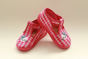 Slippers,Toddlers, Girls,Velcro, Snap, Laced shoes, Multicoloured, Lovely colours,Countured Footbed,Delicately stiffened, Natural material, Canvas ,Anti-skidding, UK size 2, 3, 4, 5, 6, 7 Smalle