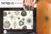 TATTOOID Temporary Tattoo Geometric. 2 slides + 1 cosmetic sponge