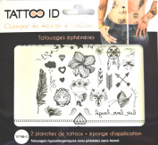 TATTOOID Temporary Tattoo Mix. 2 slides + 1 cosmetic sponge