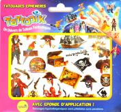 TATTOOIK Temporary Tattoos Pirate. 1 slide + 1 cosmetic sponge