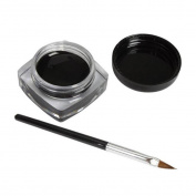 JACKY 2 PCS Cosmetic Mini Waterproof Gel Eyeliner Cream With Makeup Brush