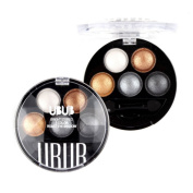 Face Like 5colors Baked Eyeshadow Palette Bright Stereo Metallic Glare Portable