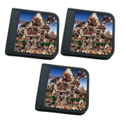 MasterStor (Pack of 3) 24 Disc Wallet GMP Animal House CD DVD Game Xbox ps3 ps4 dvd Case Storage